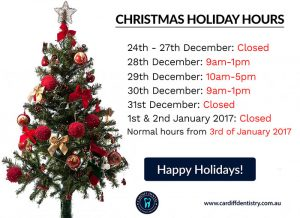Cardiff Dental Christmas Opening Hours | Dentist Cardiff