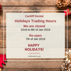 Cardiff Dental Holiday Opening Hours Banner
