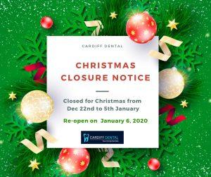 cardiff dental christmas closure notice banner