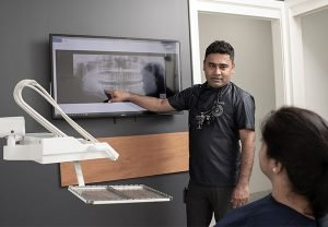 About Cardiff Dental Dr Sumanth discuss x-ray result