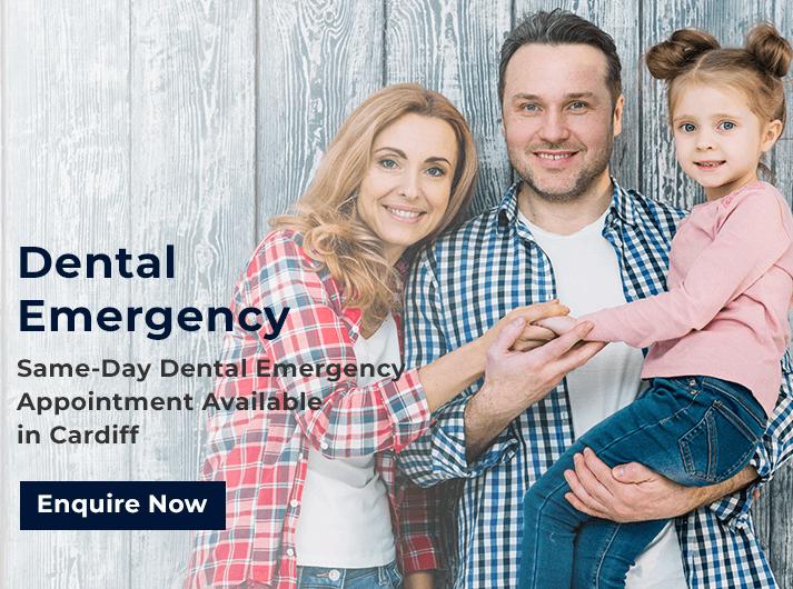 dental emergency promo banner cardiff